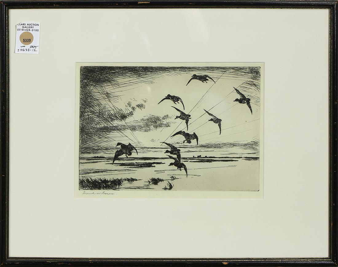 Print, Frank Weston Benson, Ducks