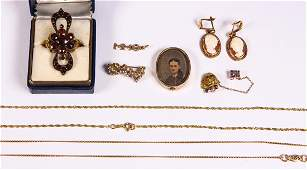 Collection of multistone yellow gold goldfilled and