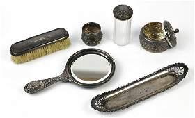 Associated Gorham sterling silver vanity set