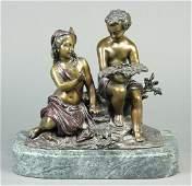 After Albert-Ernest Carrier patinated bronze figural