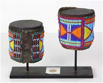 South or East African beaded bracelets, executed in