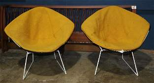 Pair of vintage Bertoia for Knoll Diamond chairs