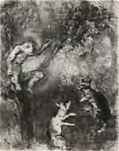 Print, Marc Chagall, La Fable de la Fontaine