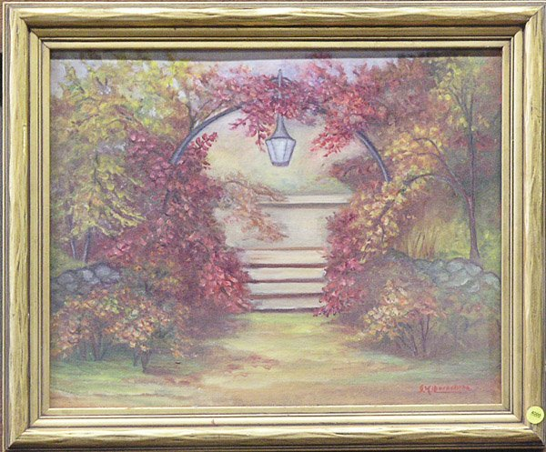 4000: Oil painting arbor autumn