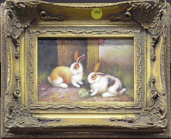 4008: Paintings Bunnies Kittens Still Life