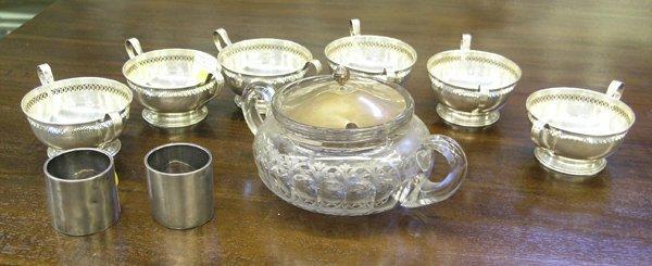 4016: Sterling bowls napkin rings