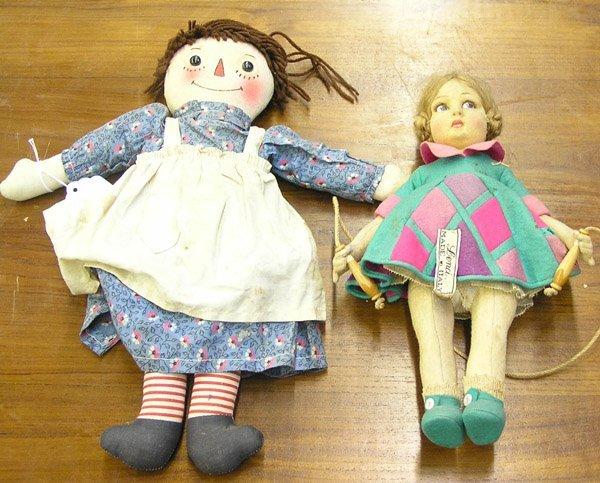 4130: Italian Lenci felt doll Raggedy Ann