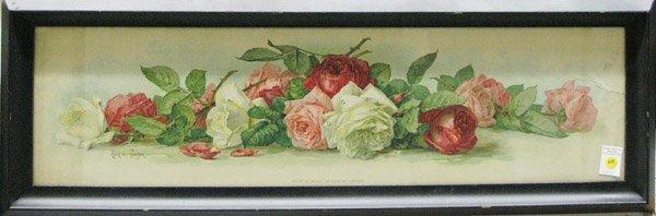 4388: Lithograph Roses Paul de Longpre