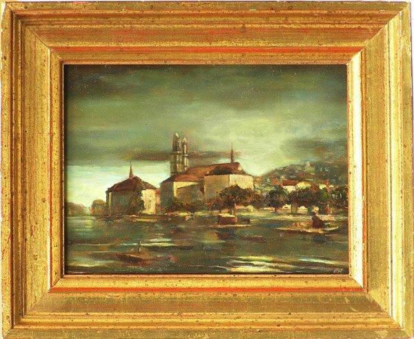 6002: Painting, E. Rattchi, Landscape
