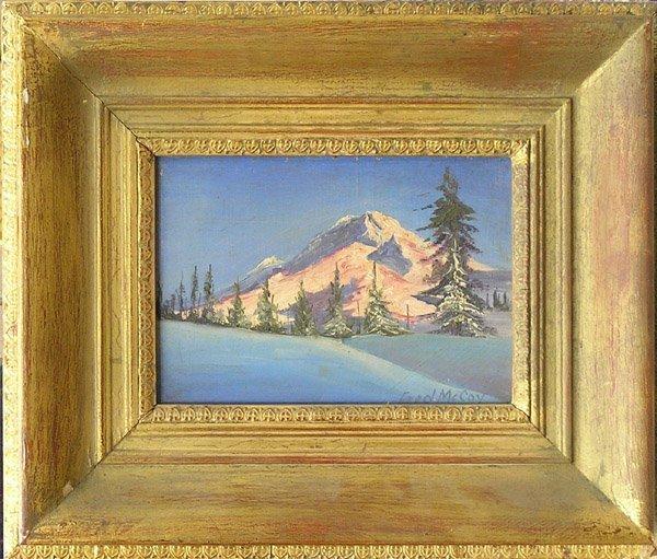 6009: Snow Mountain Fred McCoy oil
