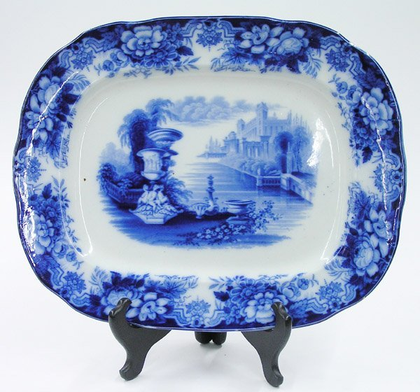 6017: Enghlish flow blue platter
