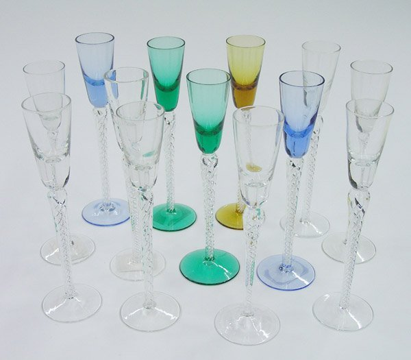6021: Colored glass cordials