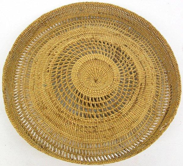 6611: Aluet embroidered lidded basketry jar