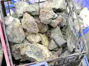 Smokey quartz, geode chunks, calcite