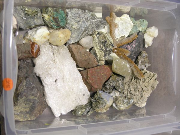 Specimen and rocks