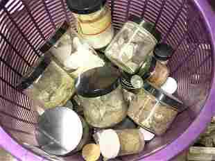 Minerals in jars