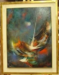 2314: Oil painting, Leonardo Nierman, lunar