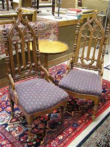 2338: Pair of Gothic Revival Sidechairs