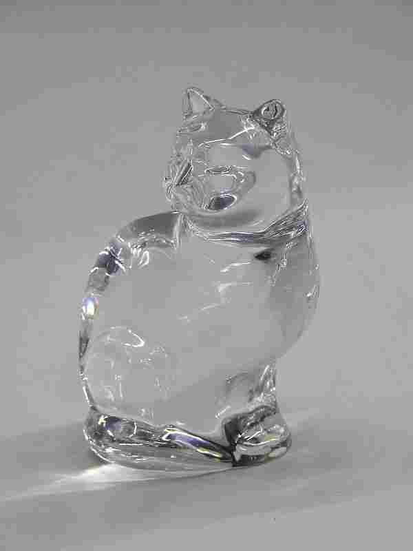 Orrefors crystal cat