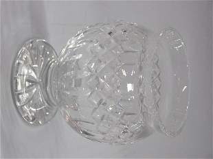 Waterford cut crystal rose bowl