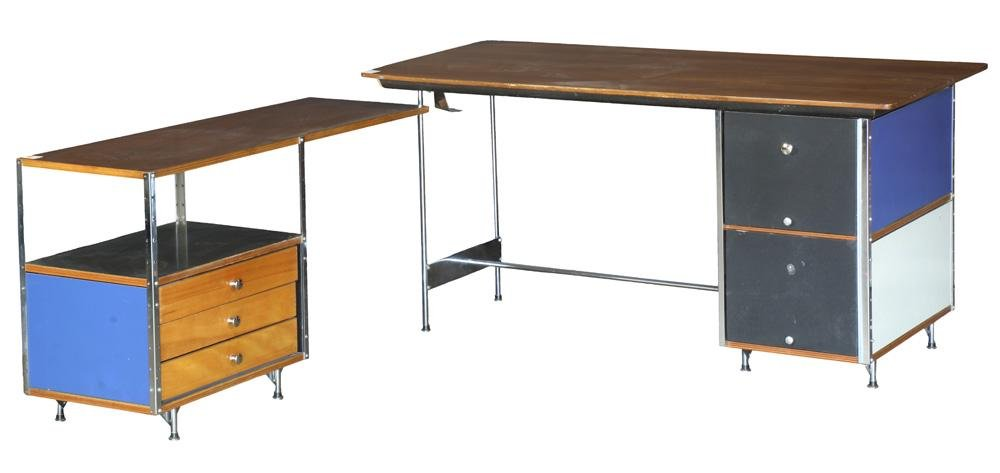 Charles and Ray Eames for Herman Miller ESU desk and