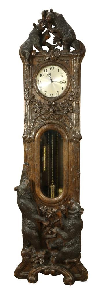 German Black Forest tall case clock