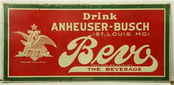 Anheuser-Busch embossed metal sign