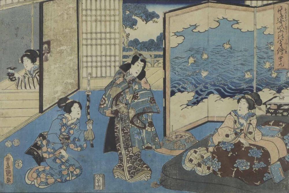 japanese Woodblock Print, Toyokuni III