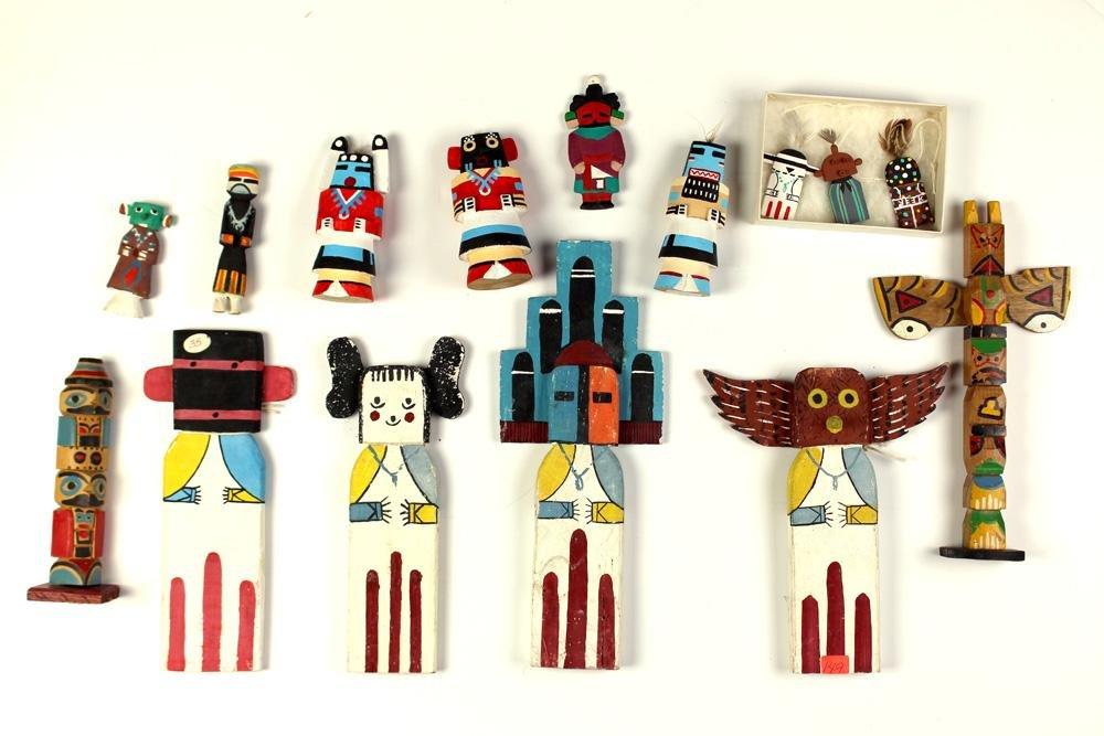 (lot of 15) Southwest Native American Kachina group