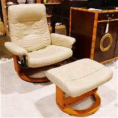 Ekornes stressless lounge chair and ottoman