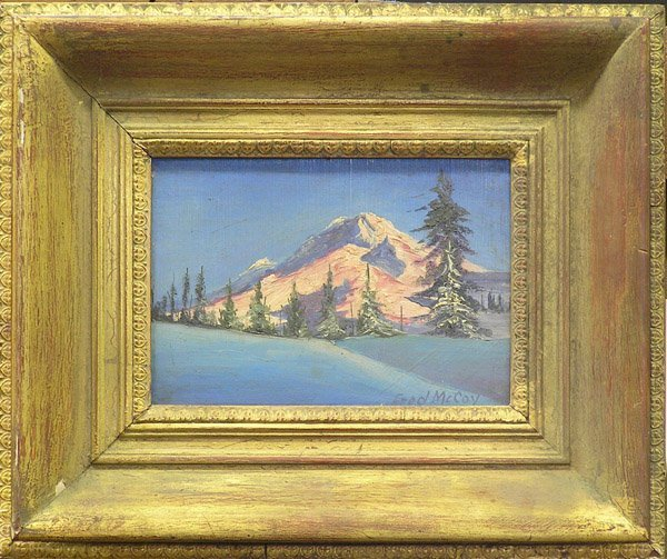 6: Snow Mountain Fred McCoy oil