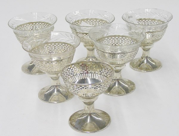 9: Six Webster sterling silver sherbets