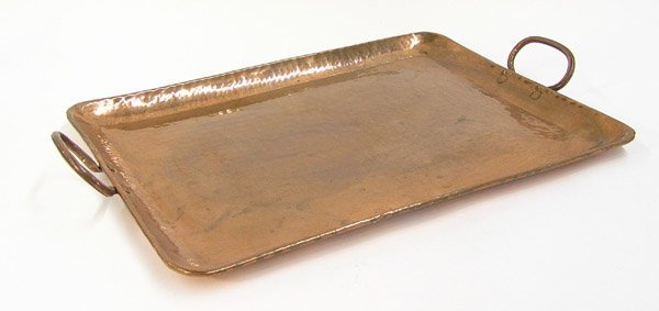 21: Arts & Crafts hand hammered tray