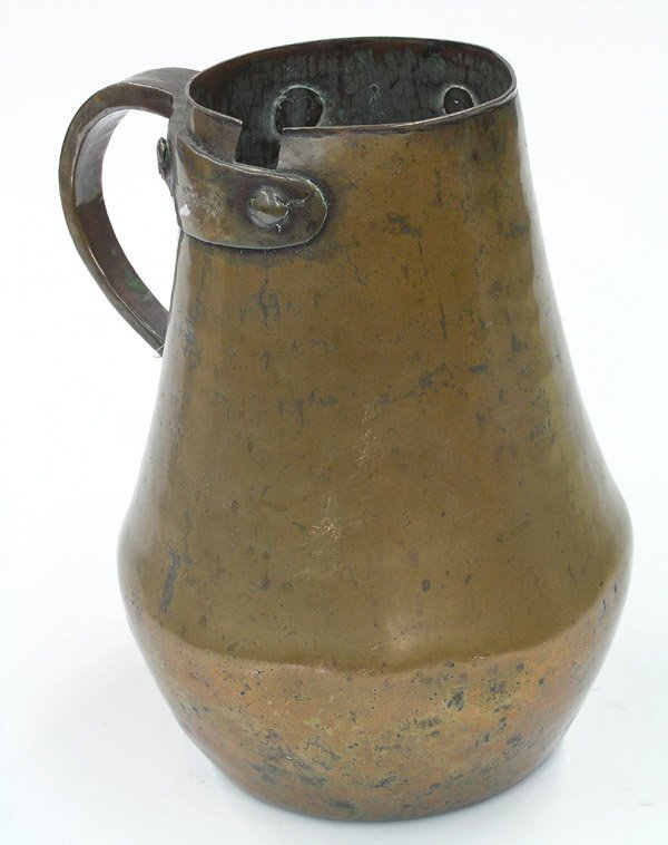 22: English Arts & Crafts copper pitcher