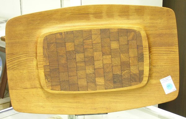 157: Danish Modern teak cutting board Dansk