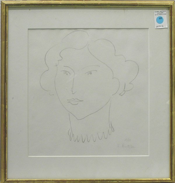 493: Lithograph, after Matisse, Figure