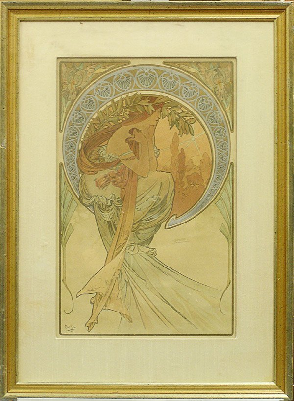 2253: Lithograph, Alphonse Mucha, Poetry