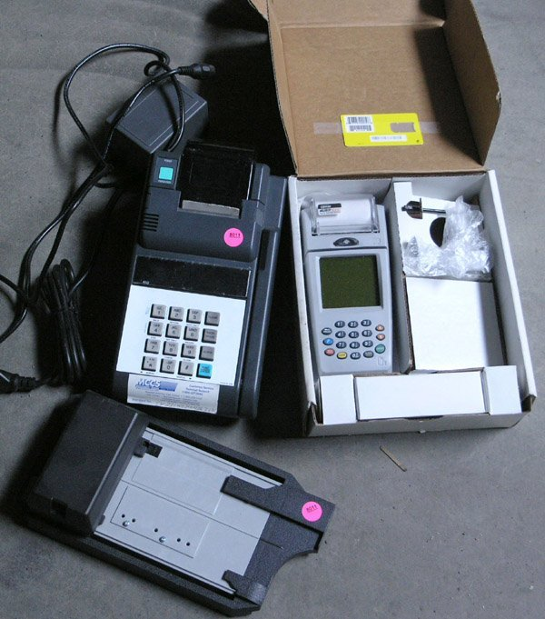 8011: manual electronic credit card machines