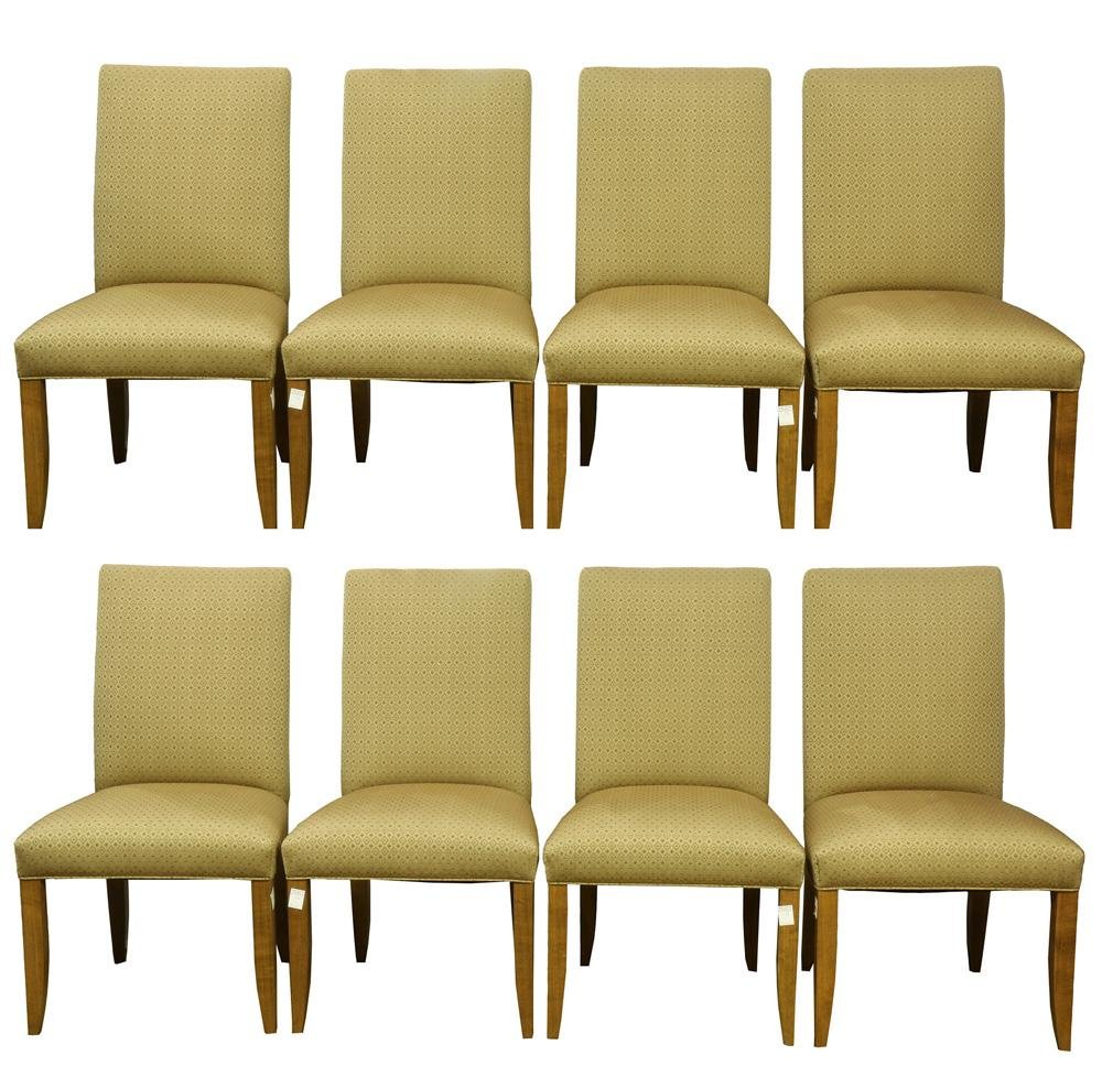 (lot of 8) Custom contemporary high back dining chairs