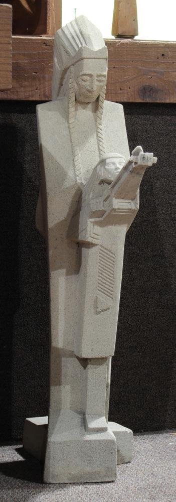 A Frank Lloyd Wright Foundation Nakomis sculpture
