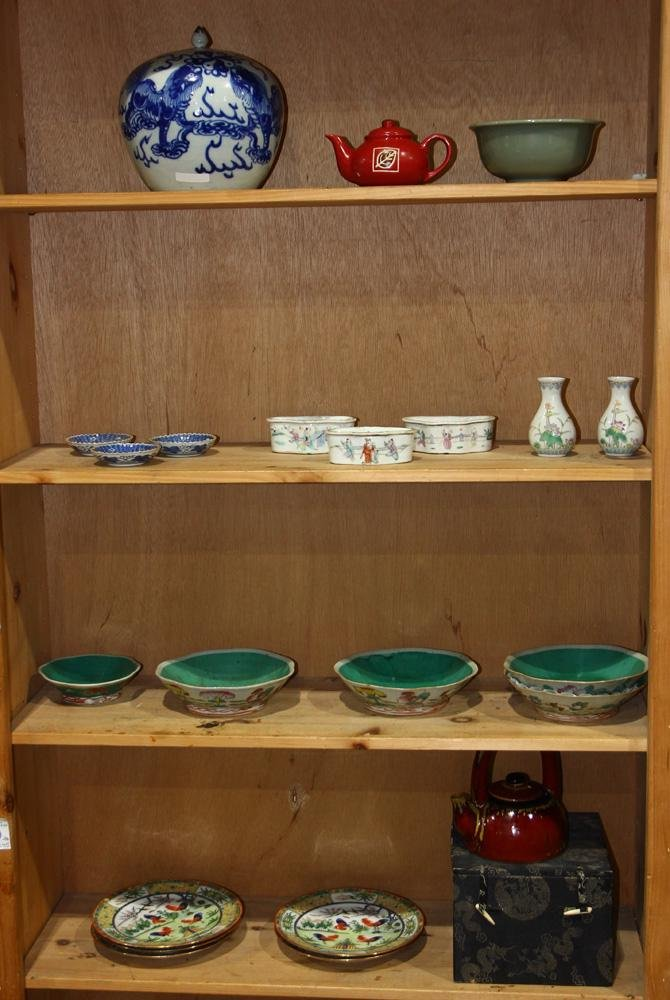 (lot of 22) Chinese porcelain Decorative Pieces