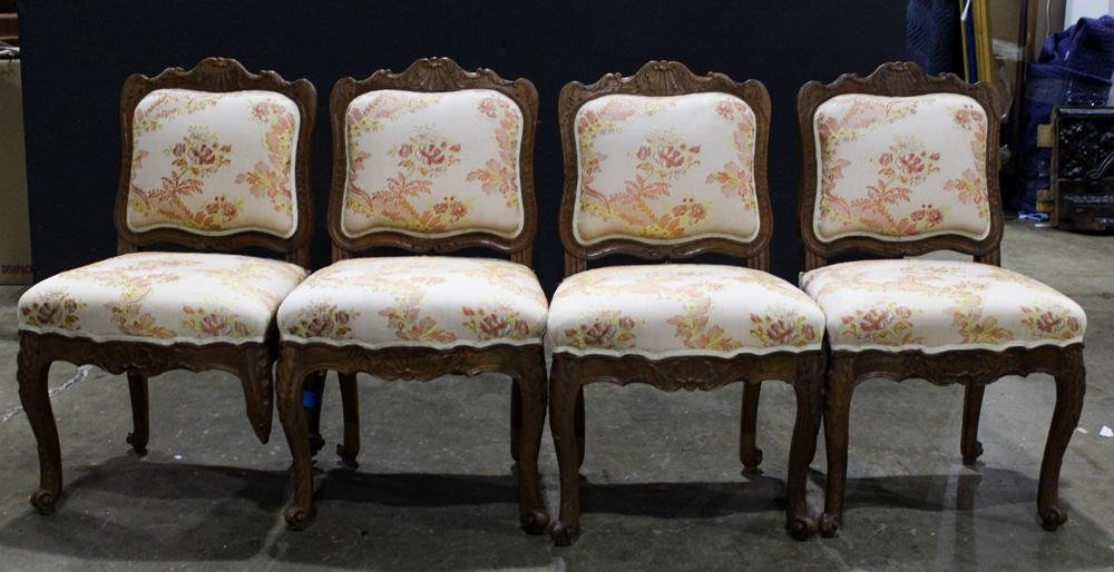 (lot of 4) French Louis XV style chairs
