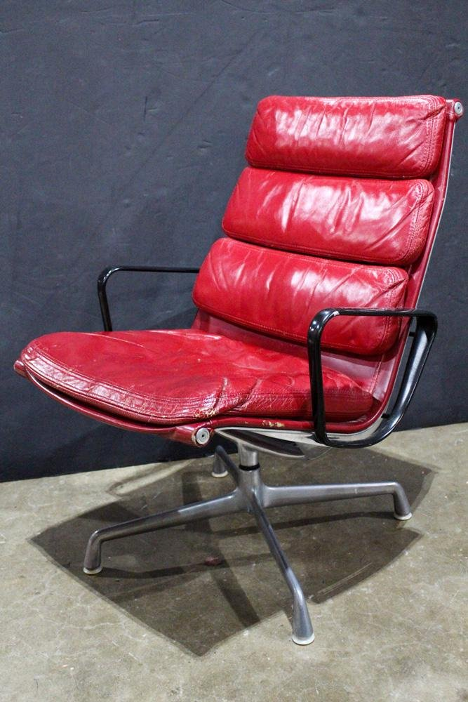 A Charles and Ray Eames softpad chair for Herman Miller