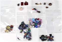 Collection of multi-stone, yellow gold, and metal