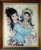 Painting, Portrait of Two Young Girls