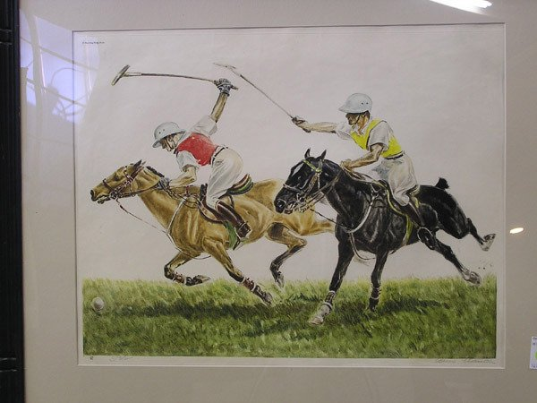 1: French Louis Claude etching, Polo