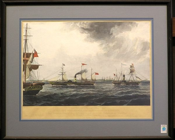 3: R.G. Reeve, color engraving, nautical