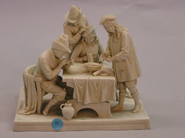 13: Continental Bisque Porcelain figural group