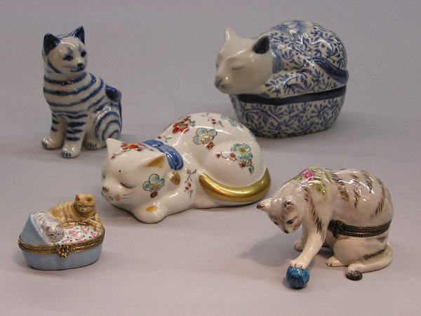 16: Gumps, Kutani ceramic cats