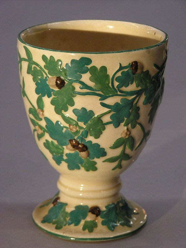 22: Mason's Ironstone cup with acorn decor